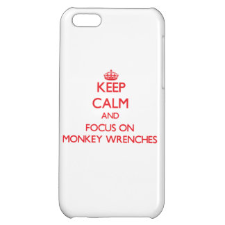 Keep Calm and focus on Monkey Wrenches iPhone 5C Cover