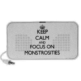 Keep Calm and focus on Monstrosities Travel Speaker