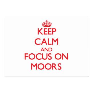 Keep Calm and focus on Moors Business Card Templates
