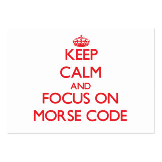 Keep Calm and focus on Morse Code Business Card Template