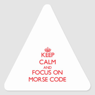 Keep Calm and focus on Morse Code Sticker