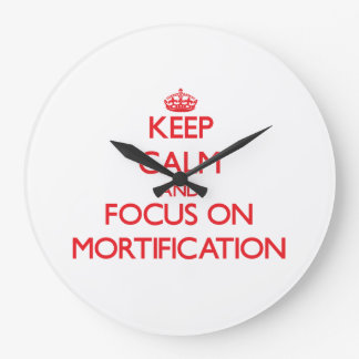 Keep Calm and focus on Mortification Clock