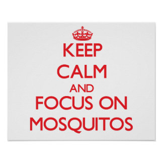 Keep Calm and focus on Mosquitos Print