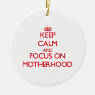 Keep Calm and focus on Motherhood Christmas Tree Ornaments
