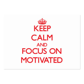 Keep Calm and focus on Motivated Large Business Cards (Pack Of 100)