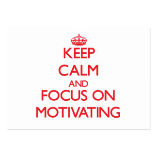 Keep Calm and focus on Motivating Large Business Cards (Pack Of 100)