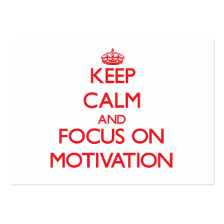 Keep Calm and focus on Motivation Large Business Cards (Pack Of 100)