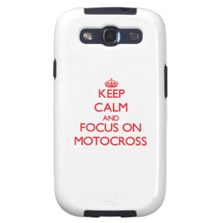 Keep calm and focus on Motocross Galaxy SIII Case