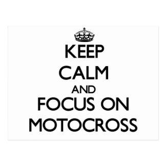 Keep calm and focus on Motocross Postcard
