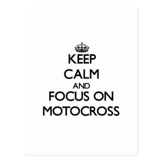 Keep calm and focus on Motocross Post Cards