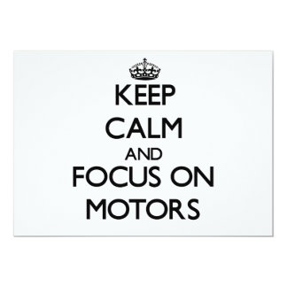 Keep Calm and focus on Motors Personalized Invite