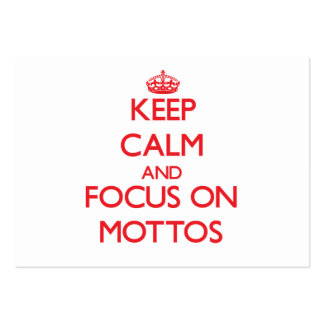 Keep Calm and focus on Mottos Large Business Cards (Pack Of 100)