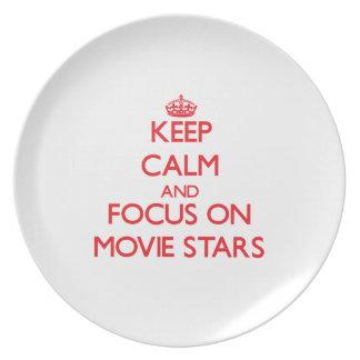 Keep Calm and focus on Movie Stars Plates