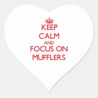 Keep Calm and focus on Mufflers Heart Sticker