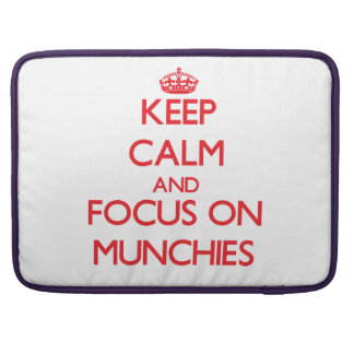 Keep Calm and focus on Munchies MacBook Pro Sleeves
