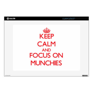 Keep Calm and focus on Munchies Laptop Skins