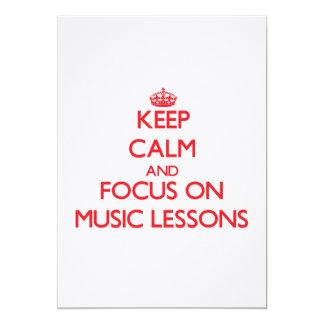 Keep Calm and focus on Music Lessons Custom Invites