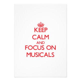 Keep Calm and focus on Musicals Custom Invitation