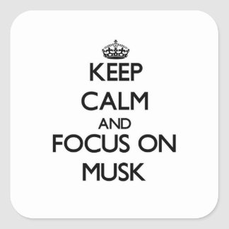 Keep Calm and focus on Musk Square Sticker