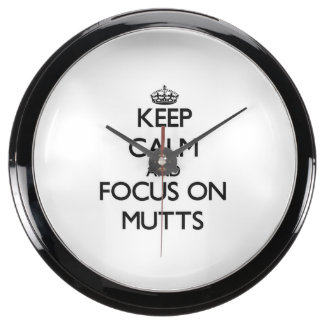 Keep Calm and focus on Mutts Fish Tank Clocks