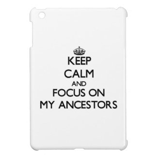 Keep Calm and focus on My Ancestors Cover For The iPad Mini