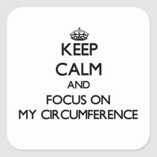 Keep Calm and focus on My Circumference Square Sticker
