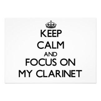 Keep Calm and focus on My Clarinet Cards