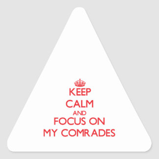 Keep Calm and focus on My Comrades Stickers