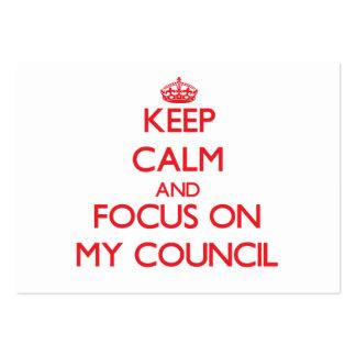 Keep Calm and focus on My Council Business Card