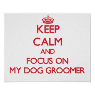 Keep Calm and focus on My Dog Groomer Posters