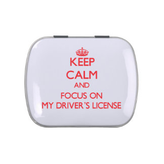 Keep Calm and focus on My Driver's License Jelly Belly Tin