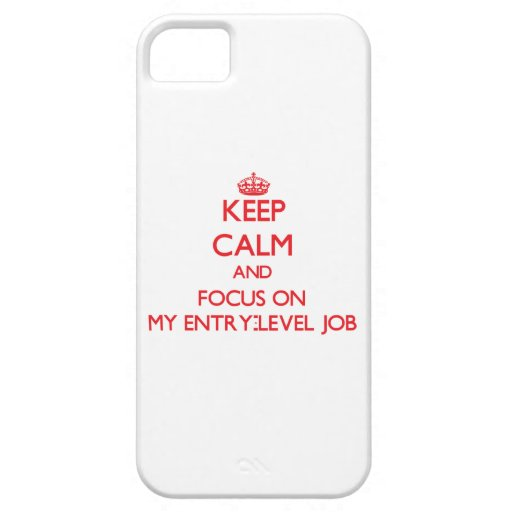 Keep Calm and focus on MY ENTRY-LEVEL JOB Case For iPhone 5/5S