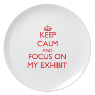 Keep Calm and focus on MY EXHIBIT Party Plates