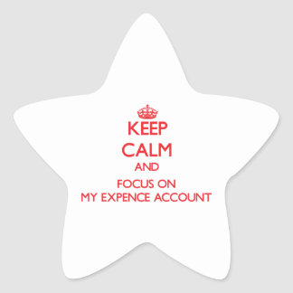 Keep Calm and focus on MY EXPENCE ACCOUNT Star Sticker