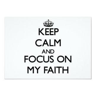 Keep Calm and focus on My Faith 5x7 Paper Invitation Card