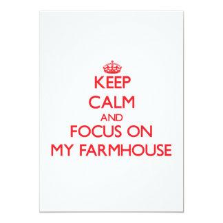 """Keep Calm and focus on My Farmhouse 5"""" X 7"""" Invitation Card"""