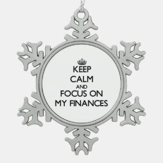 Keep Calm and focus on My Finances Ornaments