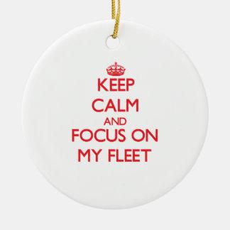 Keep Calm and focus on My Fleet Christmas Ornament