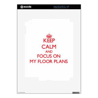 Keep Calm and focus on My Floor Plans iPad 2 Decal