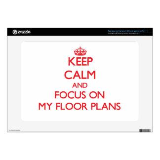 Keep Calm and focus on My Floor Plans Samsung Chromebook Decal