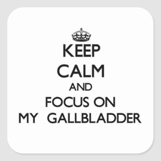 Keep Calm and focus on My Gallbladder Stickers