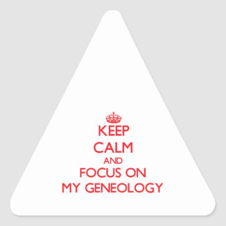Keep Calm and focus on My Geneology Sticker
