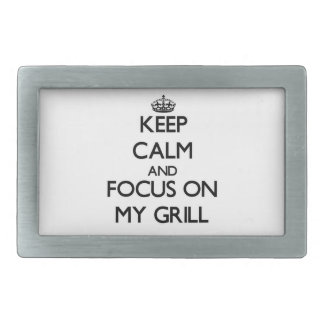 Keep Calm and focus on My Grill Belt Buckles