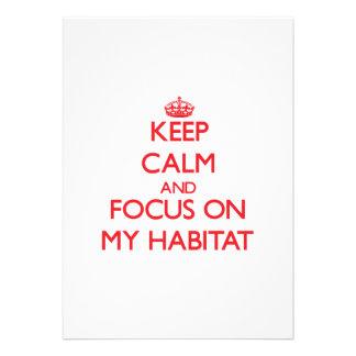 Keep Calm and focus on My Habitat Invite