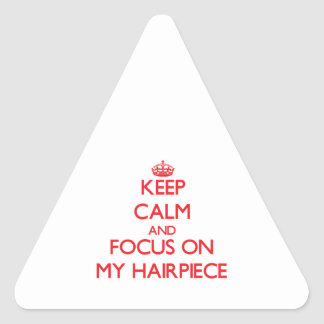 Keep Calm and focus on My Hairpiece Stickers