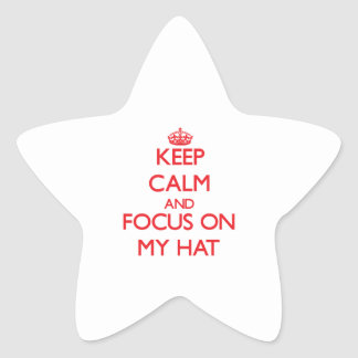 Keep Calm and focus on My Hat Stickers
