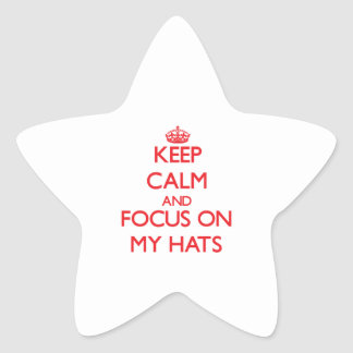 Keep Calm and focus on My Hats Sticker