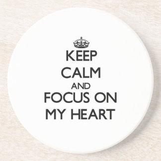 Keep Calm and focus on My Heart Coasters