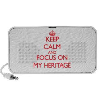 Keep Calm and focus on My Heritage Speakers