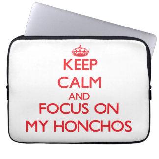 Keep Calm and focus on My Honchos Computer Sleeve